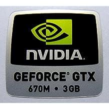 Original NVIDIA Geforce GTX 670M 3GB Sticker 18 x 18mm [868]
