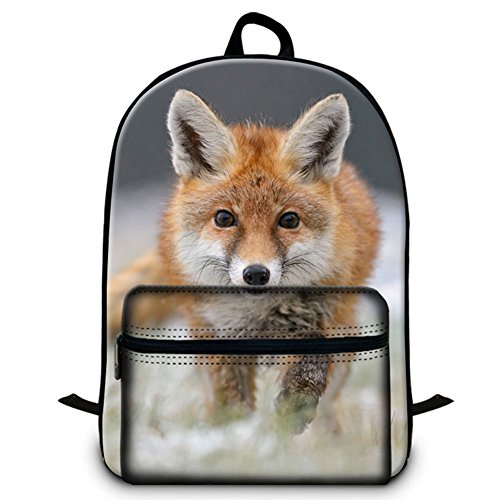 - GIVE ME BAG Generic Fox School Backpack with Laptop Compartment for Children Outdoor Back Pack for Youth