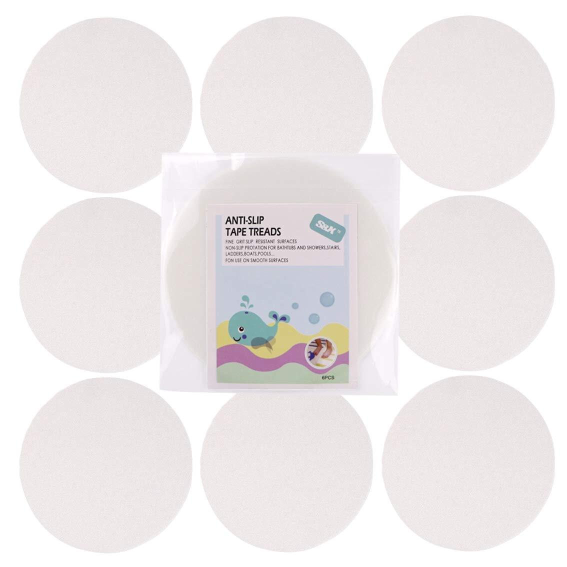 S& X Bath Stickers Non Slip Grit Sticker Slip-Resistant Baby Bathtub Shower Tattoos Anti Slip Safety Strips Strong Adhesive Safety Sticker for Bathtub/Pools/Bathrooms/Staris (5x5)