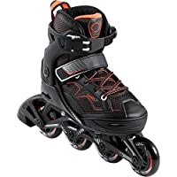Oxelo Fit 3 Kid's Fitness Skates - Black Orange