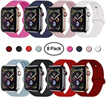 VATI Sport Band Compatible for Apple Watch Band 38mm 40mm, Soft Silicone Sport Strap Replacement Bands Compatible with...