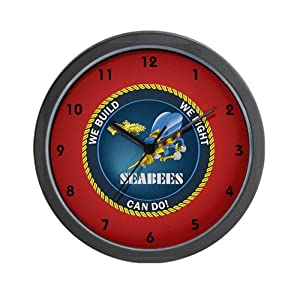 "CafePress Seabee Clocks Unique Decorative 10"" Wall Clock by CafePress"