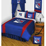NHL New York Rangers King Comforter Set Hockey Logo Bed