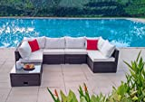 7-Piece Outdoor Patio Furniture Set with Coffee