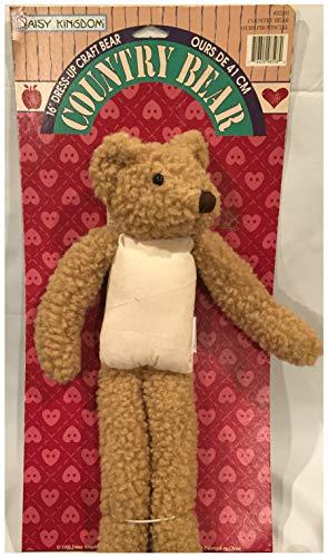 16 Inch Dress-Up Country Craft Bear by Daisy Kingdom 1995 Body (Daisy Kingdom Doll)