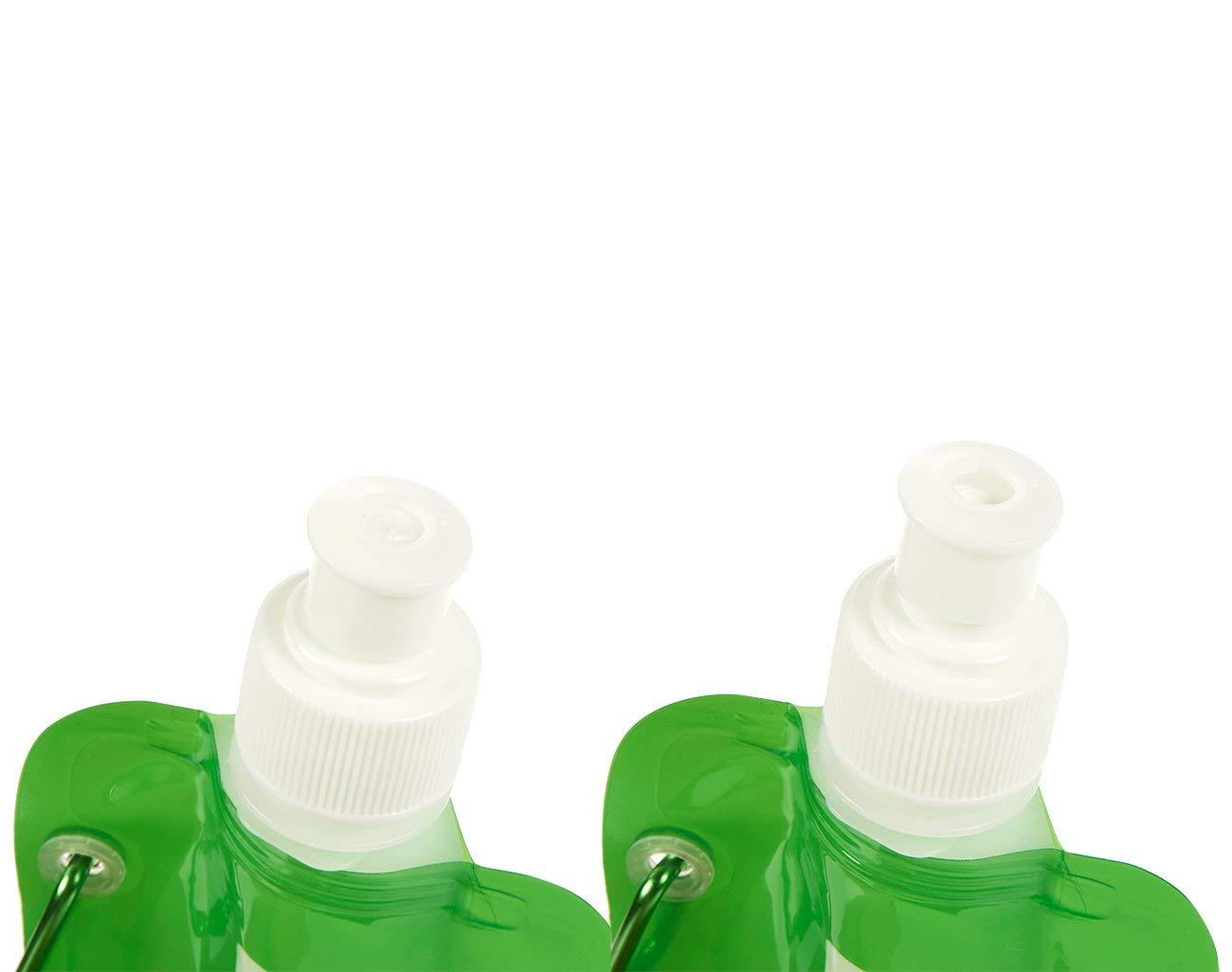 /Cantimplora con mosquet/ón para viajes verde /6/unidades 16/oz plegable sin BPA botellas de Canteen/ Juvale Plegable botella de agua/