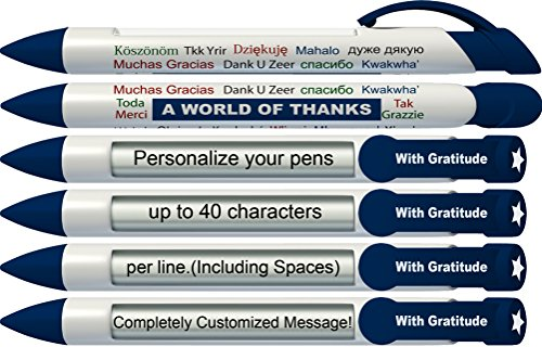 - Greeting Pen Personalized World of Thanks Rotating Message Pen - 25 Pack (P-PP-111-25)