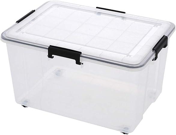 Titular de archivo Caja de almacenamiento de ropa de plástico transparente gruesa caja de almacenamiento de alimentos sellado a prueba de humedad escombros en casa Oficina Libros Caja de almacenamient: Amazon.es: Hogar