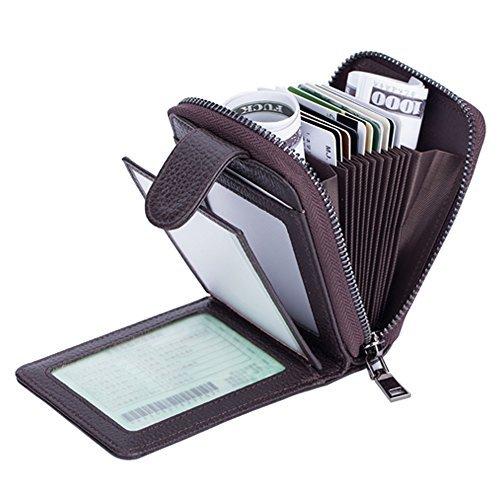Tarjetero para Tarjetas de Crédito para Mujeres Hombres con la Ranura de la Licencia de Conducir by SINOKAL (Café)