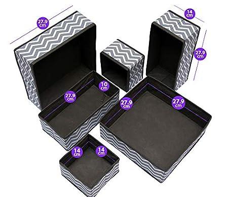 USWAI - Juego de 6 cajones organizadores Plegables - Cajas de ...