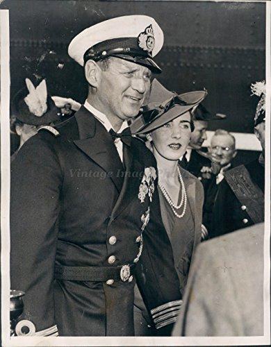 1939 Crown - 1939 Crown Prince Frederick Princess Ingrid San Pedro Harbor Royal Photo