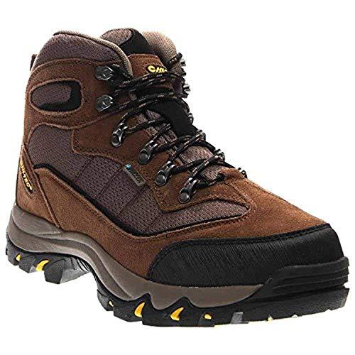 Hi-Tec Men's Skamania WP Boots Brown/Gold 8.5 M & Knit Cap Bundle
