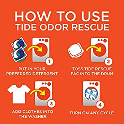 Tide Odor Rescue with Febreze Odor Defense Laundry Pacs In-Wash Detergent Booster, 27 Count, 21 Oz