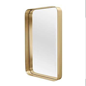 Amazon.com: WWWRL Rectangle Decorative Mirror/Bathroom Wall ...
