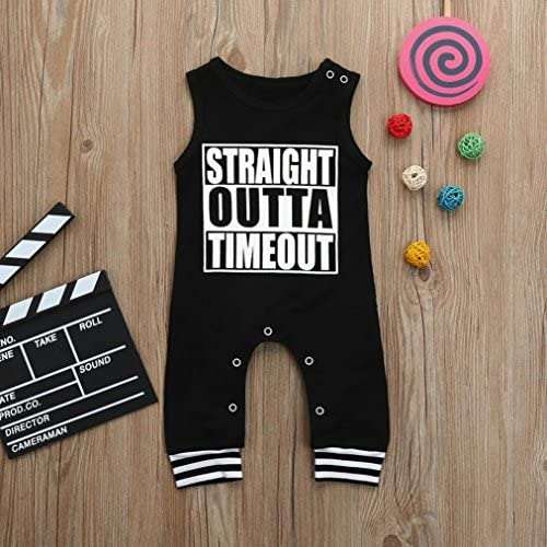 Straight Outta Patience Newborn Baby Boy Girl Romper Jumpsuit Long Sleeve Bodysuit Overalls Outfits Clothes