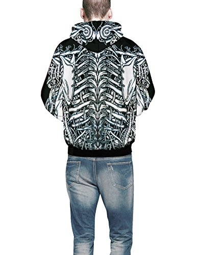 Felpa con Cappuccio Unisex Casual a Maniche Lunghe Uomo Donna Coppia Sweatshirt Livido L/XL