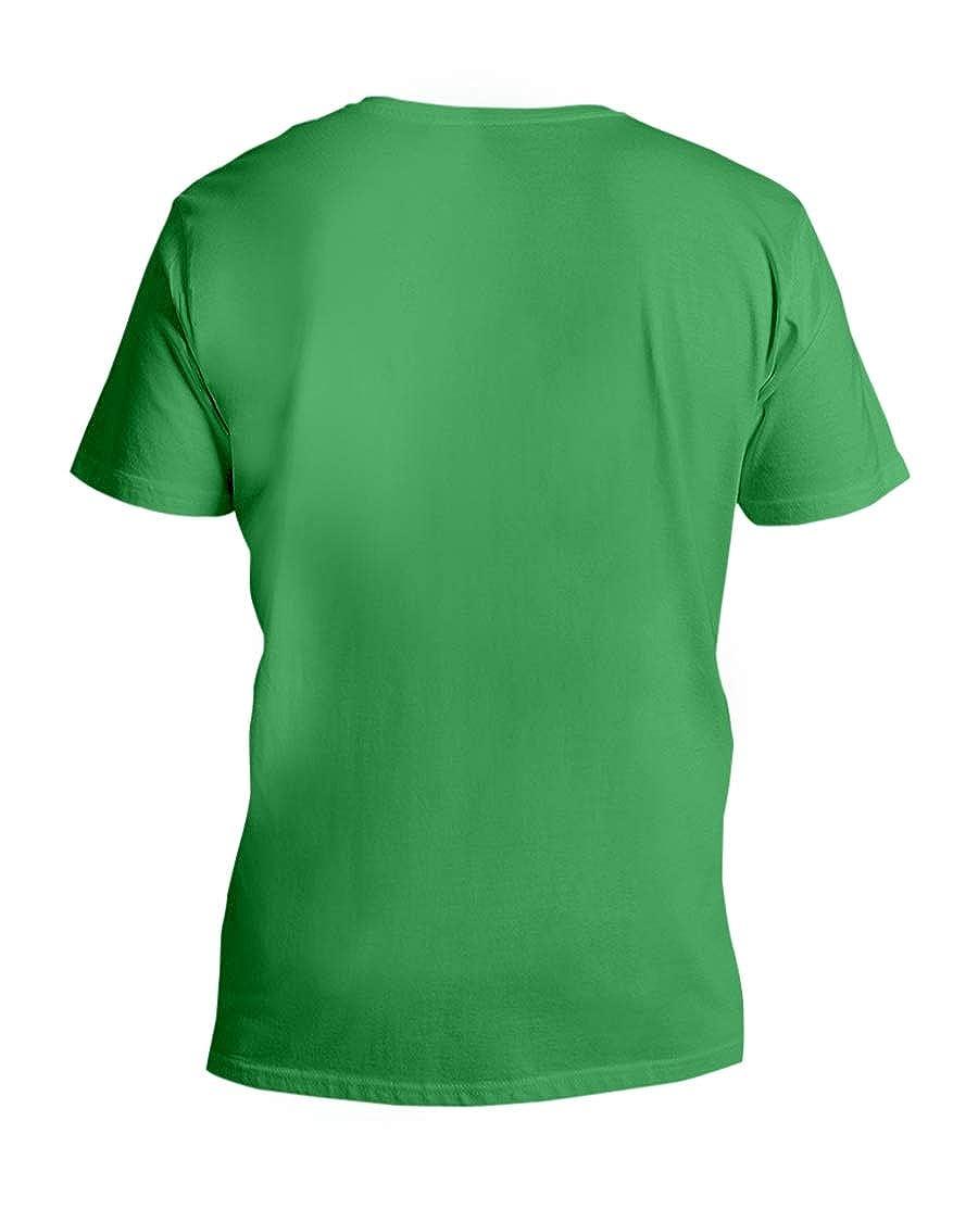 Hillary Chenss Taste Bud Crete V-Neck T-Shirt Kelly XS