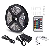 AMXXON LED Strip Lights WiFi Alexa Compatible Full Kit Smart Phone Controlled Music 5050 RGB LED Strip Works with Google Home,IFTTT,Android and iOS System