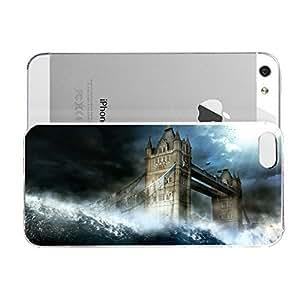 Janmaons iPhone 5/5s Case - Digital Art - London Bridge Being Washed Away fniyV Case for iPhone