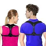 Posture corrector for Women and Men | Clavicle & Shoulder Support Brace, Upper Back Support | Helps with Cervical Neck Pain, Improves Poor Posture | Posture Brace for Back Pain Relief and Hunchback