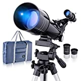 Refractive Professional Astronomical Telescope, HD high Magnification, Dual-use, Suitable for Adults or Children Beginners, Portable and Equipped with Tripod