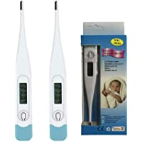 Best Digital Thermometer, Rectal and Oral Thermometer for Adults and Babies,High Precision Thermometer for Fever, Accurate and Fast Readings (2Pcs)