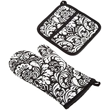 DII Cotton Damask Oven Mitt 12 x 6.5