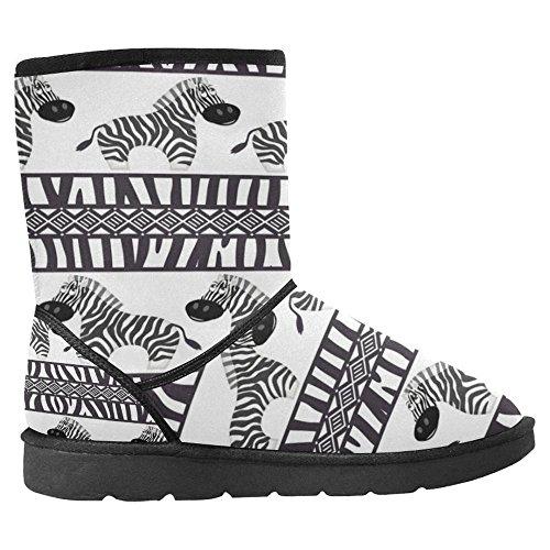 InterestPrint Womens Snow Boots Unique Designed Comfort Winter Boots African Cute Zebra and Zebra Skin Multi 1 zB20X