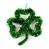 #2: St. Patrick's Day Tinsel Shamrock Wall Decoration by Greenbrier