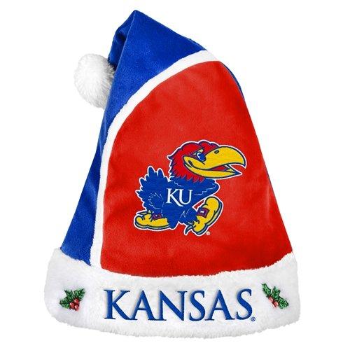 Forever Collectibles NCAA Kansas Jayhawks 2015 Basic Santa Hat, Blue ()