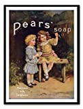 Iposters Pears Soap Advert Print Magnetic Memo Board Black Framed - 41 X 31 Cms (approx 16 X 12 Inches)