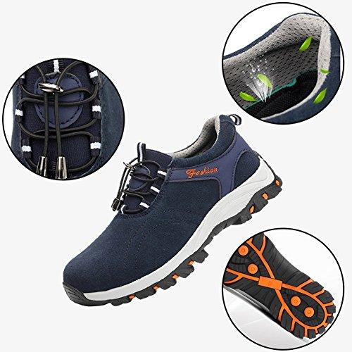 Arbeitsschuh Sportlich Schutzschuhe Herren Leicht Stahlkappe Atmungsaktiv Blue mit Arbeitsschuhe Bequemer Schuhe Sicherheitsschuhe 4qXXzUw