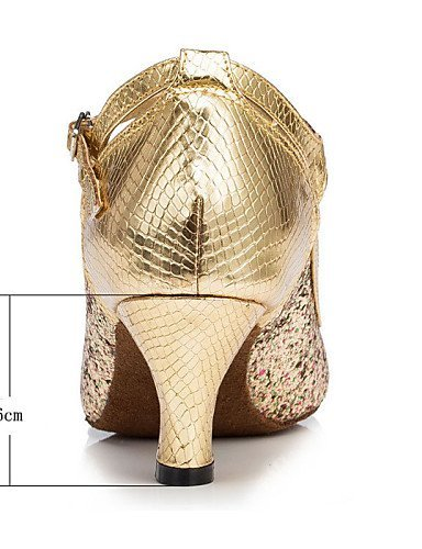 ShangYi Tanzschuhe Nicht Anpassbare - Niedriger Absatz - Beflockung - Latin - Damen Gold