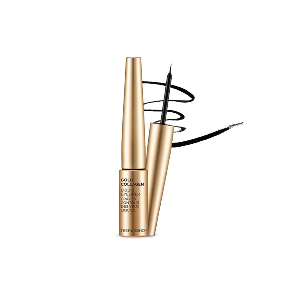 The Face Shop Gold Collagen Liquid Eyeliner 01 Black (6g)