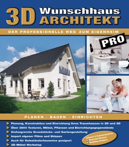 3d Wunschhaus Architekt Pro 1 Cd Rom Planung Konstruktion Und