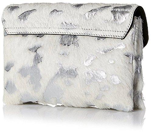Signature Lock Randall Cream Silver Women's Loeffler Clutch Jr qRtgxT