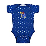 Two Feet Ahead Kansas Jayhawks NCAA College Newborn Infant Baby Heart Creeper (12 Months)