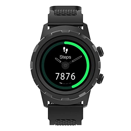 Amazon.com: 3Plus Cruz Hybrid Smart Watch with Heart Rate Monitor, Pedometer, Physical Hands, Touch Screen for Android/iOS in Black: Health & Personal Care