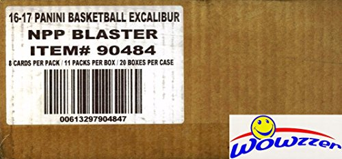2016/17 Panini Excalibur Basketball EXCLUSIVE Factory Sealed 20 Box Blaster CASE! Look for Rookie Cards & Autographs of Brandon Ingram, Ben Simmons, Devin Booker & Many More! WOWZZER!