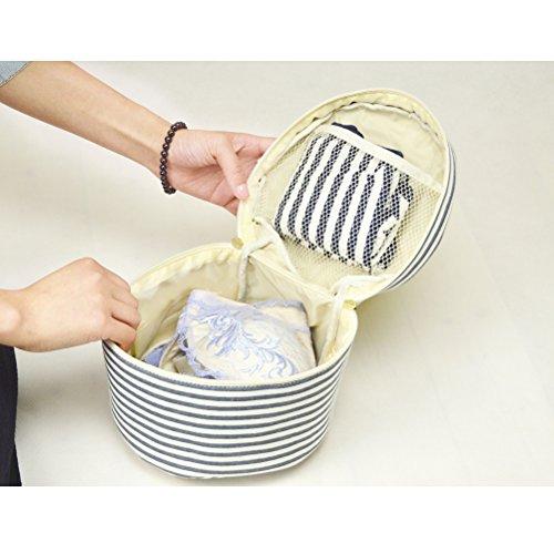 Fieans Travel Organizer Aufbewahrungstasche Bra nterwäsche Tasche Lingerie Fall Box toiletbag BHs schützt Wäsche-Blau