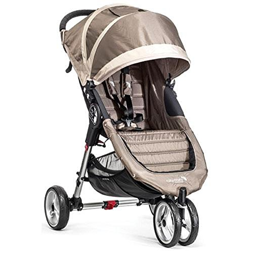 Single Stroller Stone - Baby Jogger City Mini Stroller In Sand, Stone Frame, BJ11457