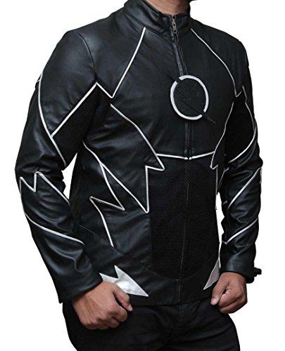 Decrum The Flash Zoom Men's Black Leather Jacket M by Decrum (Image #1)