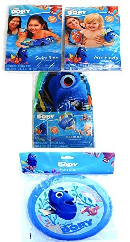 Finding Dory Swimming Pool Bundle Included: Arm Floats,Swim Ring,Beach Ball & Flying Disc by Disney