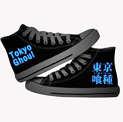 Tokyo Ghoul Anime Cosplay Shoes Canvas Shoes Adult Black Luminous version