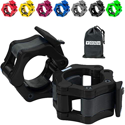 Crosstrainer FrontTech 1 Barbell Collars Ausdauertraining Quick Release Non-Slip Barbell Clamp Collars fo...