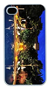 most protective cases Hotel Pool PC White Case for iphone 4/4S