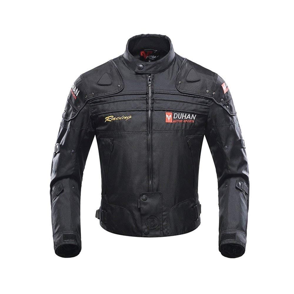 Motorcycle Jacket Motorbike Riding Jacket Windproof Motorcycle Full Body Protective Gear Armor Autumn Winter Moto Clothing (Black, XXL) by BORLENI