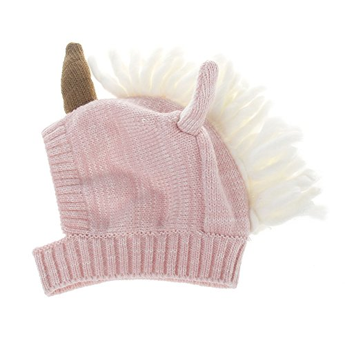 CaJaCa Kids Unicorns Horn Little Girl Unicorn Knit Hat Halloween Costume Makeup Party (Z14) -