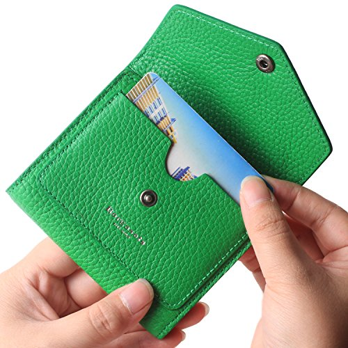 Green Ladies Purse Accessories - Borgasets Women's RFID Blocking Small Compact Bifold Leather Pocket Wallet Ladies Mini Purse Limited Edition Green