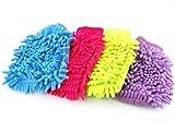 Microfiber Wash Mitt Mitten Car Cleaning Glove Random Colour